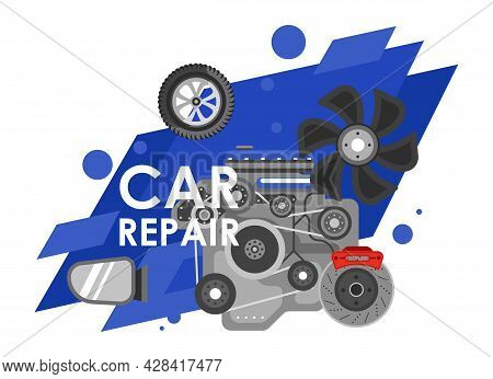 Car Repair, Maintenance And Fixing Center For Auto
