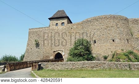 View Of The Entrance To The Castle Helfstyn In The Czech Republic.
