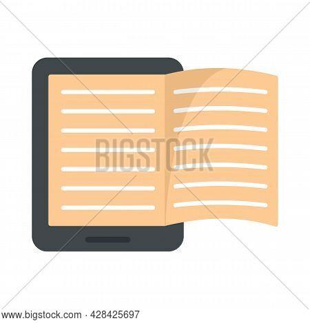 Magazine Ebook Icon. Flat Illustration Of Magazine Ebook Vector Icon Isolated On White Background