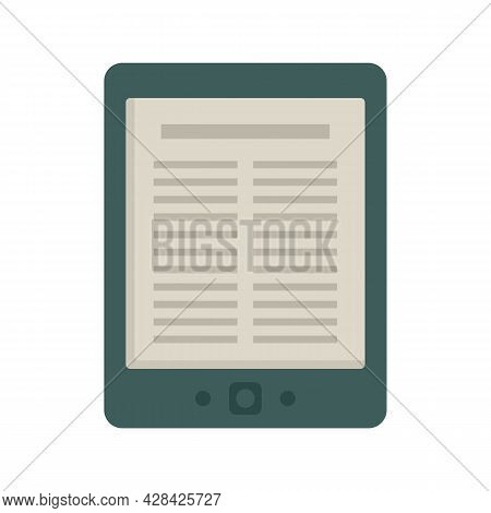 Library Ebook Icon. Flat Illustration Of Library Ebook Vector Icon Isolated On White Background