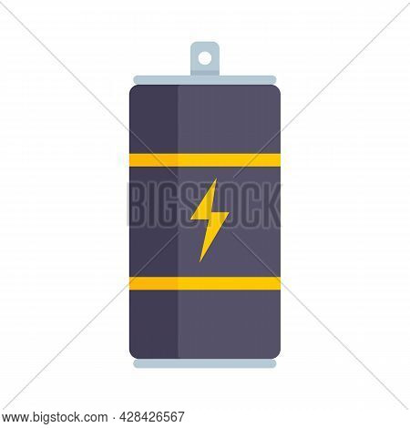 Energy Drink Container Icon. Flat Illustration Of Energy Drink Container Vector Icon Isolated On Whi