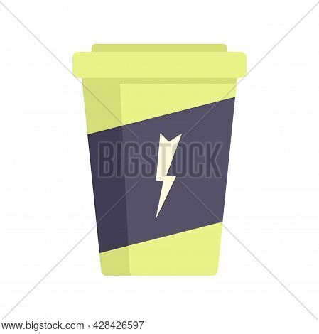 Carbonated Energy Drink Icon. Flat Illustration Of Carbonated Energy Drink Vector Icon Isolated On W