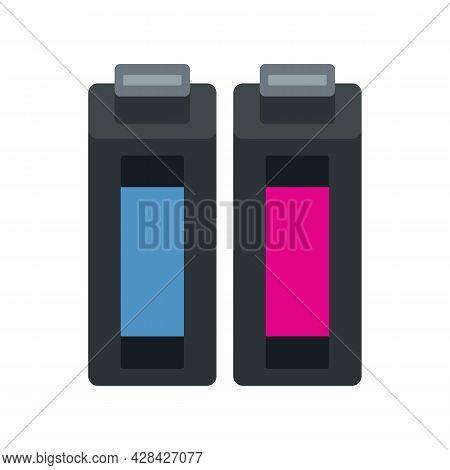 Media Cartridge Icon. Flat Illustration Of Media Cartridge Vector Icon Isolated On White Background