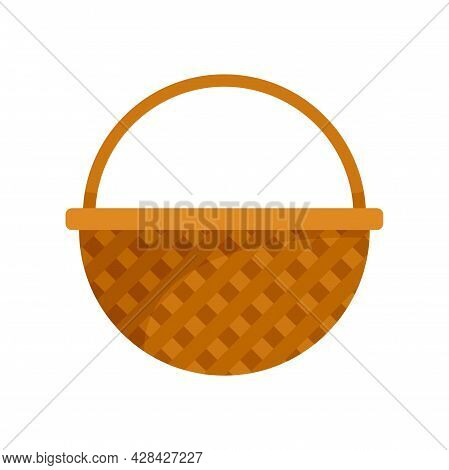 Container Wicker Icon. Flat Illustration Of Container Wicker Vector Icon Isolated On White Backgroun