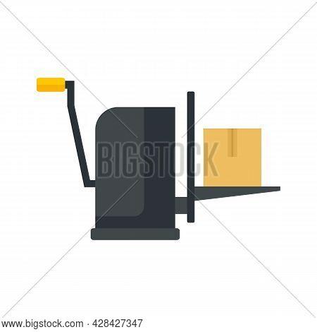 Parcel Lift Equipment Icon. Flat Illustration Of Parcel Lift Equipment Vector Icon Isolated On White