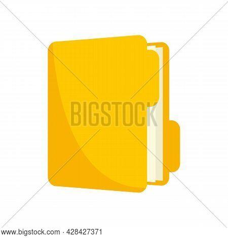 Inventory Folder Icon. Flat Illustration Of Inventory Folder Vector Icon Isolated On White Backgroun