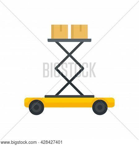 Lift Platform Icon. Flat Illustration Of Lift Platform Vector Icon Isolated On White Background