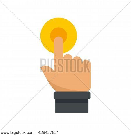 Request Touch Finger Icon. Flat Illustration Of Request Touch Finger Vector Icon Isolated On White B