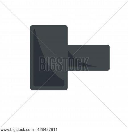 Broken Phone Piece Icon. Flat Illustration Of Broken Phone Piece Vector Icon Isolated On White Backg