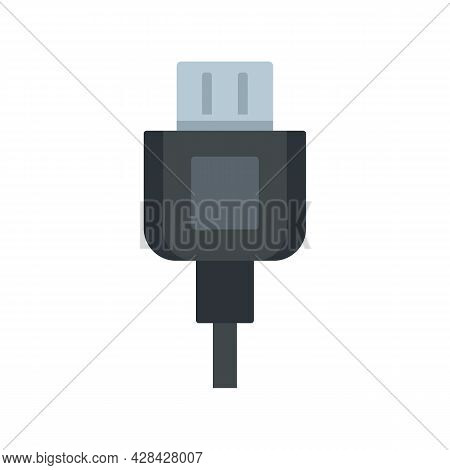 Broken Phone Cable Icon. Flat Illustration Of Broken Phone Cable Vector Icon Isolated On White Backg
