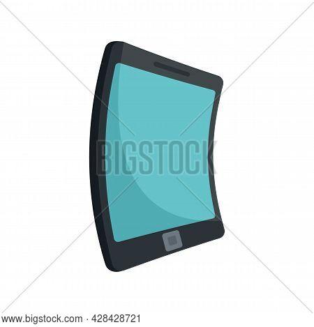 Electronic Flexible Display Icon. Flat Illustration Of Electronic Flexible Display Vector Icon Isola