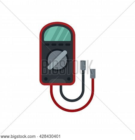 Test Multimeter Icon. Flat Illustration Of Test Multimeter Vector Icon Isolated On White Background