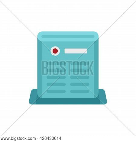 Air Purifier Care Icon. Flat Illustration Of Air Purifier Care Vector Icon Isolated On White Backgro