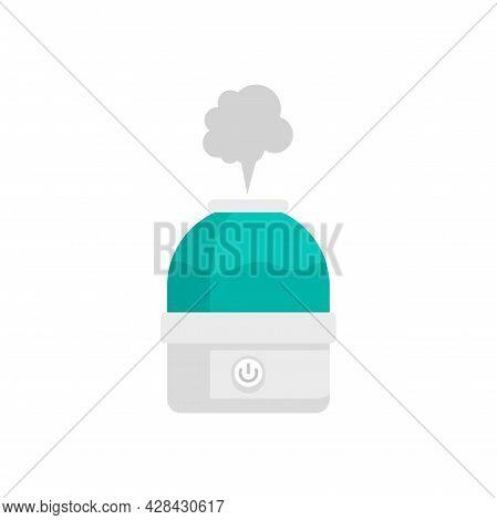 Vapor Air Purifier Icon. Flat Illustration Of Vapor Air Purifier Vector Icon Isolated On White Backg