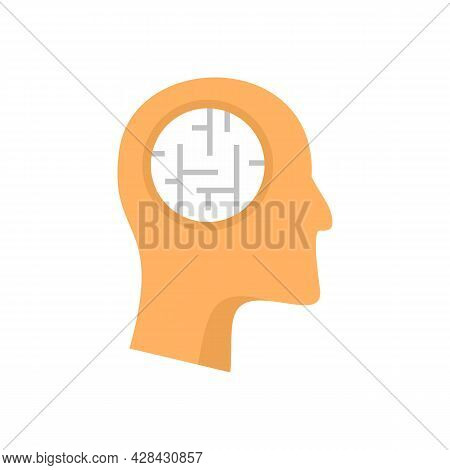 Mental Person Treatment Icon. Flat Illustration Of Mental Person Treatment Vector Icon Isolated On W