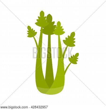 Eat Celery Icon. Flat Illustration Of Eat Celery Vector Icon Isolated On White Background