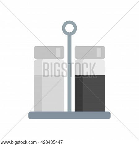 Salt Pepper Container Stand Icon. Flat Illustration Of Salt Pepper Container Stand Vector Icon Isola