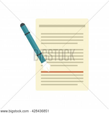 Edit Text Icon. Flat Illustration Of Edit Text Vector Icon Isolated On White Background