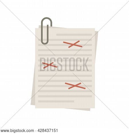 Copy Editor Icon. Flat Illustration Of Copy Editor Vector Icon Isolated On White Background