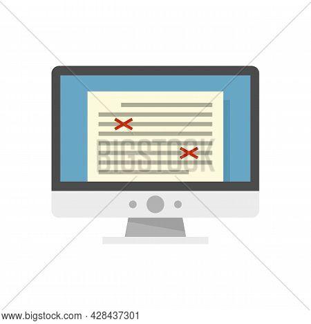 Storytelling Computer Editor Icon. Flat Illustration Of Storytelling Computer Editor Vector Icon Iso