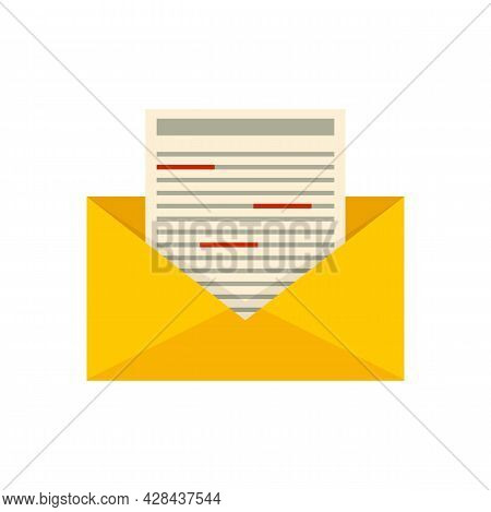 Office Mail Editor Icon. Flat Illustration Of Office Mail Editor Vector Icon Isolated On White Backg
