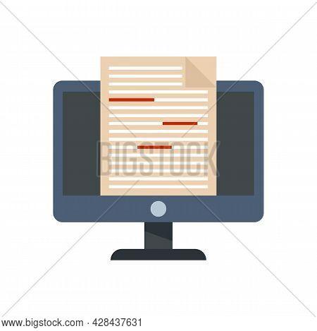 Journalist Editor Icon. Flat Illustration Of Journalist Editor Vector Icon Isolated On White Backgro