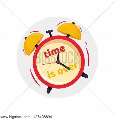 Deadline Clipart. Alarm Clock Simple Vector Clipart. Deadline Alarm Clock Isolated Clipart.
