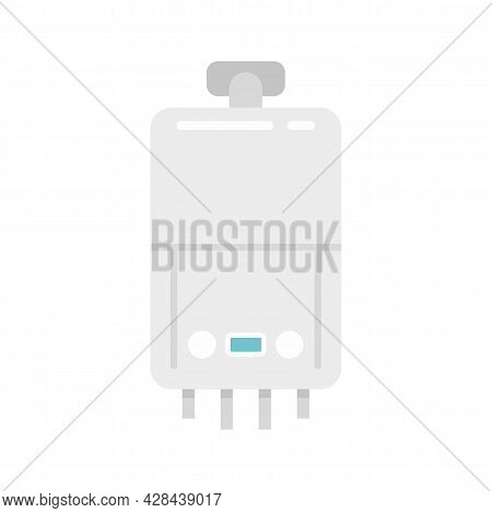 Domestic Boiler Icon. Flat Illustration Of Domestic Boiler Vector Icon Isolated On White Background