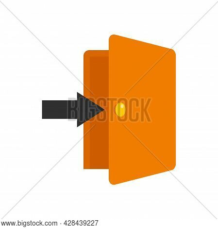 Doorway Icon. Flat Illustration Of Doorway Vector Icon Isolated On White Background
