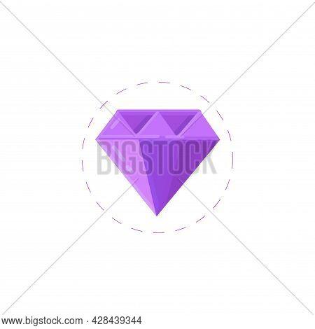 Diamond Clipart. Diamond Simple Vector Clipart. Diamond Isolated Clipart.