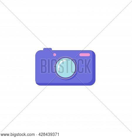 Photo Camera Clipart. Photo Camera Simple Vector Clipart. Photo Camera Isolated Clipart.