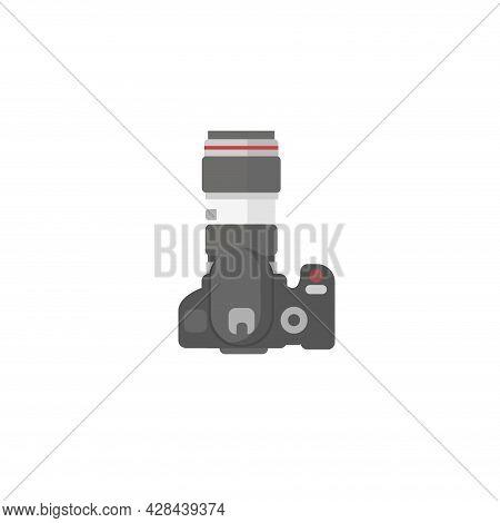 Digital Photo Camera Clipart. Professional Photo Camera Simple Vector Clipart. Professional Photo Ca