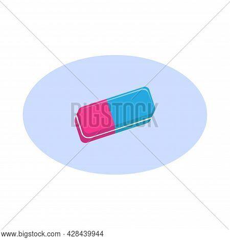 Eraser Clipart. Eraser Simple Vector Clipart. Eraser Isolated Clipart.