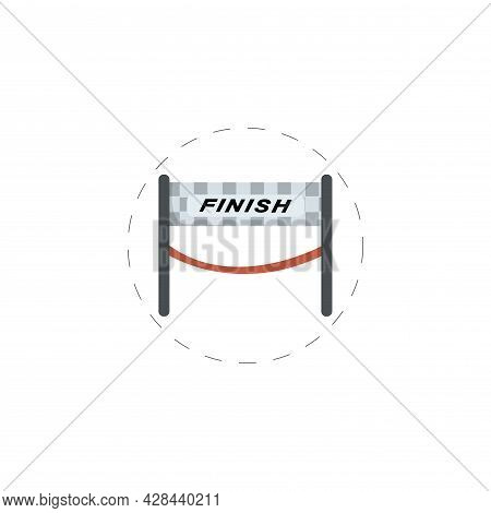 Finish Banner Clipart. Finish Banner Simple Vector Clipart. Finish Banner Isolated Clipart.