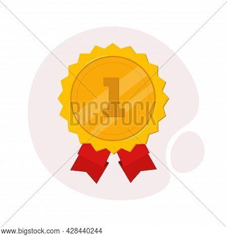 Winner Awards Medal. First Place Clipart. Winner Award Medal. First Place Simple Vector Clipart. Awa