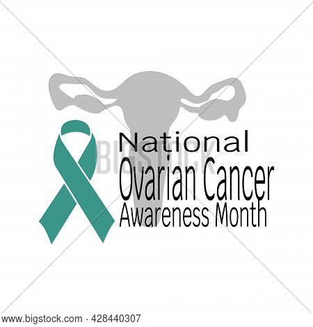 National Ovarian Cancer Awareness Month, Concept For Poster Or Banner Vector Illustration
