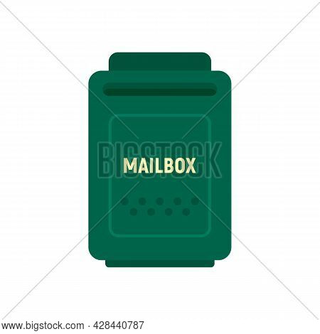 Empty Mailbox Icon. Flat Illustration Of Empty Mailbox Vector Icon Isolated On White Background
