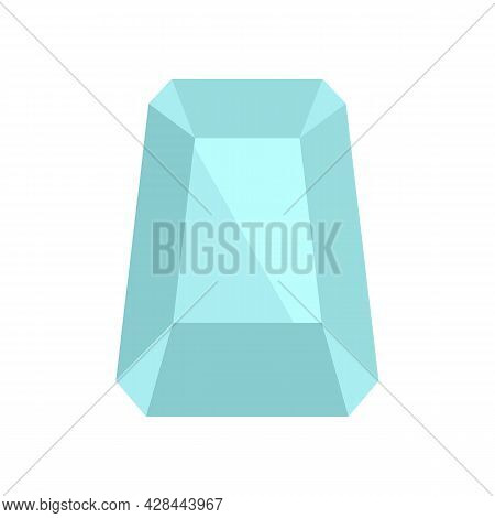 Hipster Jewel Icon. Flat Illustration Of Hipster Jewel Vector Icon Isolated On White Background