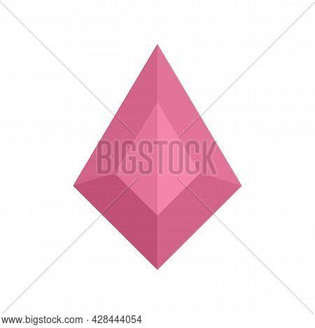 Princess Jewel Icon. Flat Illustration Of Princess Jewel Vector Icon Isolated On White Background