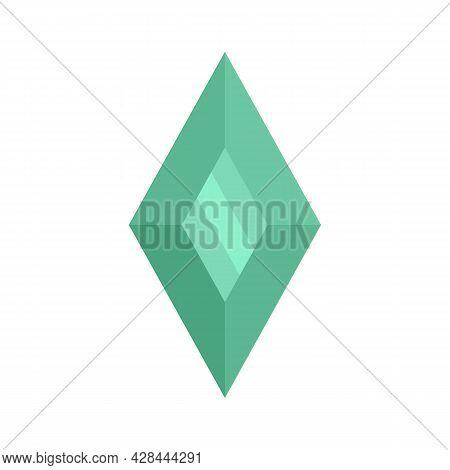 Shiny Jewel Icon. Flat Illustration Of Shiny Jewel Vector Icon Isolated On White Background