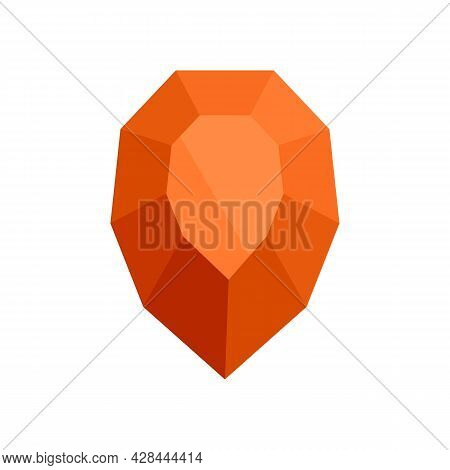 Purity Jewel Icon. Flat Illustration Of Purity Jewel Vector Icon Isolated On White Background