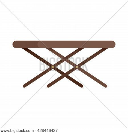 Portable Outdoor Table Icon. Flat Illustration Of Portable Outdoor Table Vector Icon Isolated On Whi