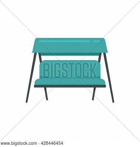 Swing Textile Chair Icon. Flat Illustration Of Swing Textile Chair Vector Icon Isolated On White Bac