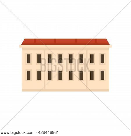 Riga Apartment Building Icon. Flat Illustration Of Riga Apartment Building Vector Icon Isolated On W