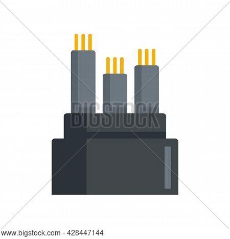 Optical Fiber Icon. Flat Illustration Of Optical Fiber Vector Icon Isolated On White Background