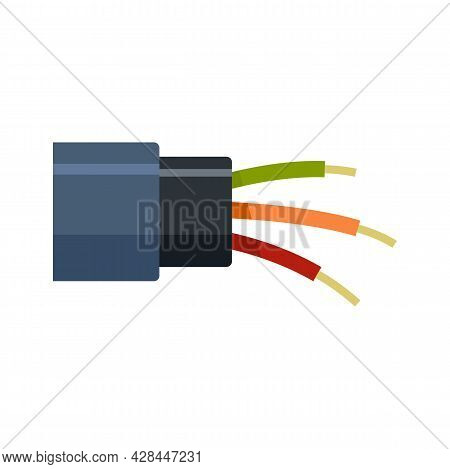 Optic Cable Icon. Flat Illustration Of Optic Cable Vector Icon Isolated On White Background
