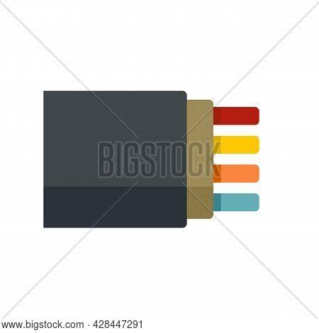 Bandwidth Optical Fiber Icon. Flat Illustration Of Bandwidth Optical Fiber Vector Icon Isolated On W