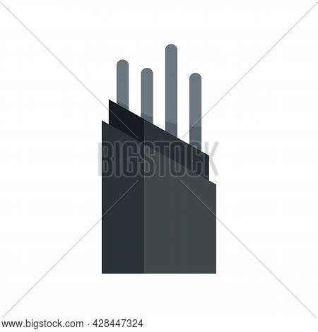 Wire Optical Fiber Icon. Flat Illustration Of Wire Optical Fiber Vector Icon Isolated On White Backg