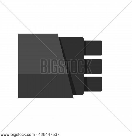 Information Optical Fiber Icon. Flat Illustration Of Information Optical Fiber Vector Icon Isolated