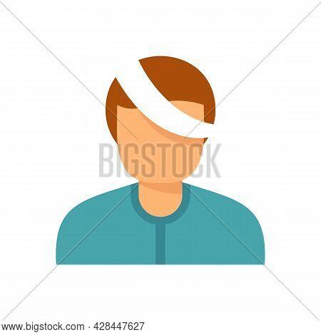 Kid Eye Injury Icon. Flat Illustration Of Kid Eye Injury Vector Icon Isolated On White Background